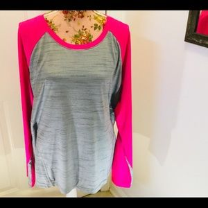 RBX Sports Bright Pink And Grey Top